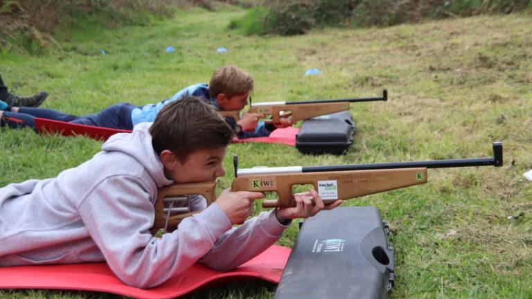 Anjou sport nature Groupes scolaires Biathlon laser La Jaille-Yvon Mayenne Anjou Toutisme Pleine nature
