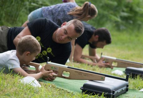 Anjou sport nature La Jaille-Yvon Activités sportives Biathlon laser Groupes scolaires