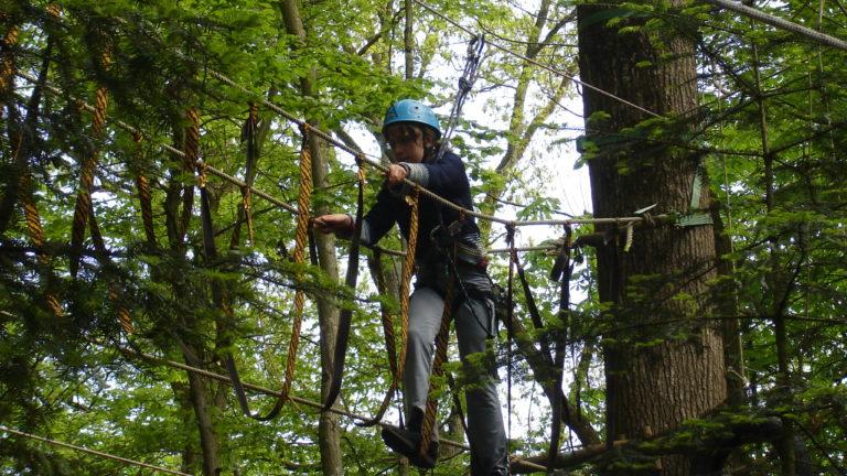 Anjou sport nature La Jaille-Yvon Activités sportives Parcours accrobranche Groupes scolaires Anjou Mayenne