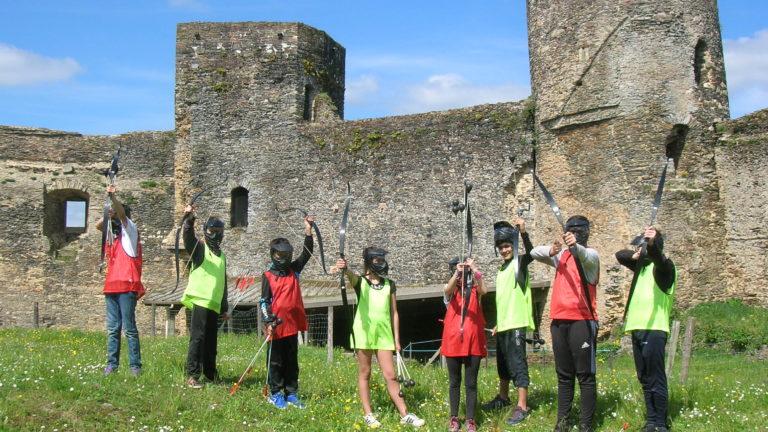 Anjou sport nature La Jaille-Yvon Challenges FunArchery Groupes scolaires Anjou Mayenne