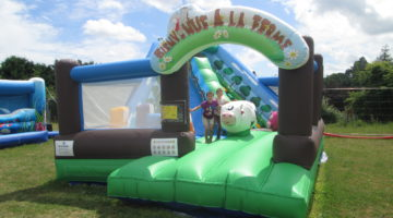 Structure gonflable à Daon en Mayenne pour les enfants