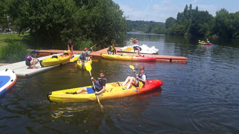 anjou sport nature kayak groupe de jeune à la jaille yvon