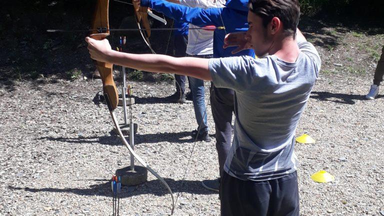 anjou sport nature la jaille yvon tir à l'arc groupe scolaires